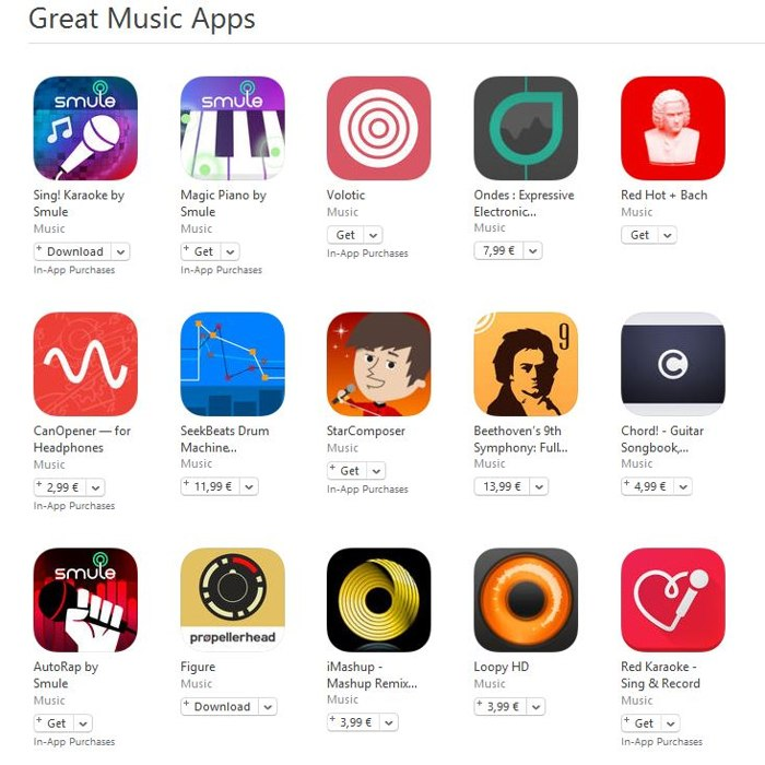 Great Music Apps aplicatii muzica