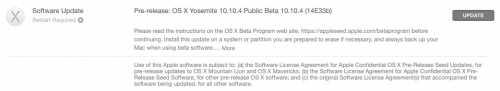 OS X 10.10.4 build 14E33b