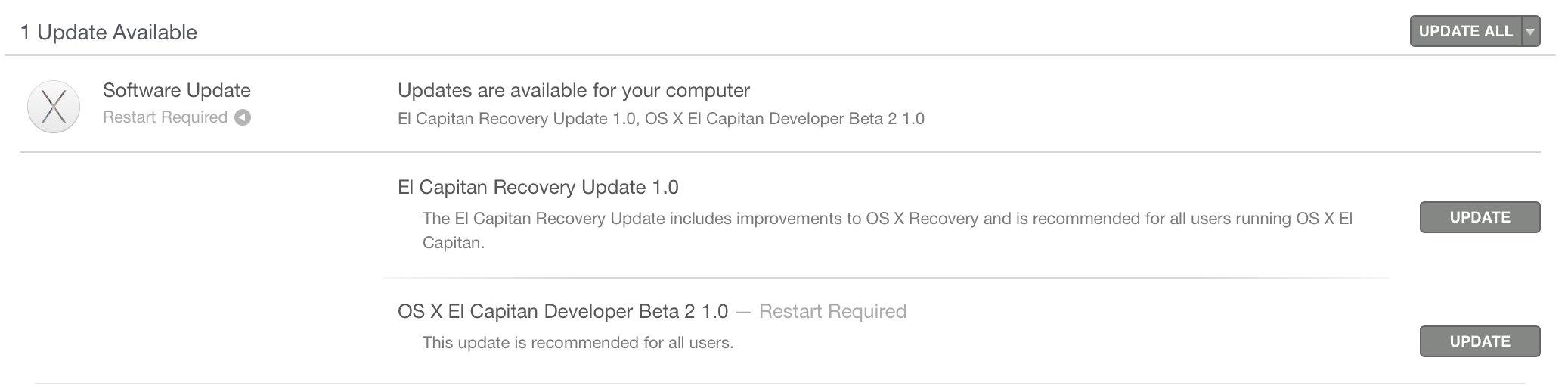OS X 10.11 El Capitan beta 2