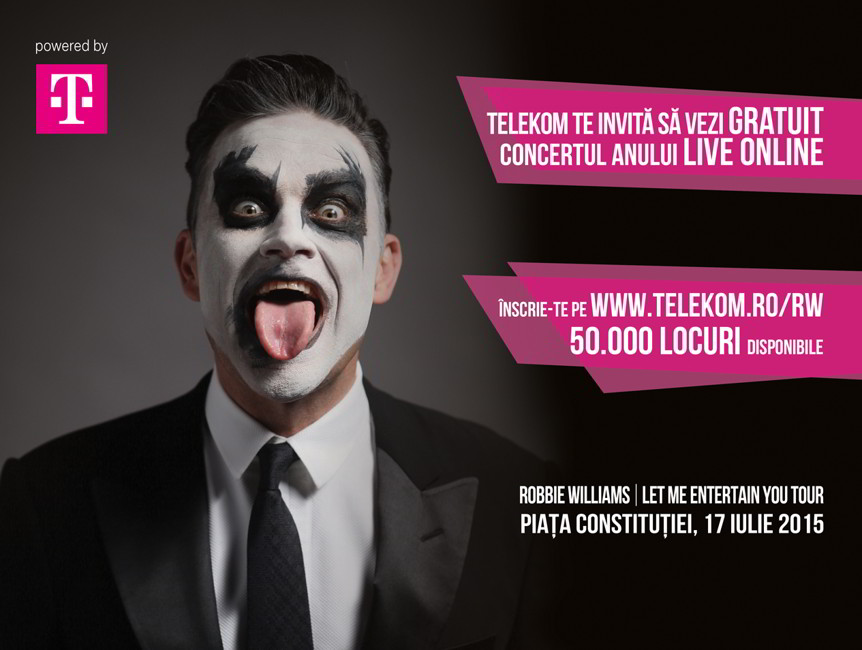 ROBBIE WILLIAMS live stream Telekom