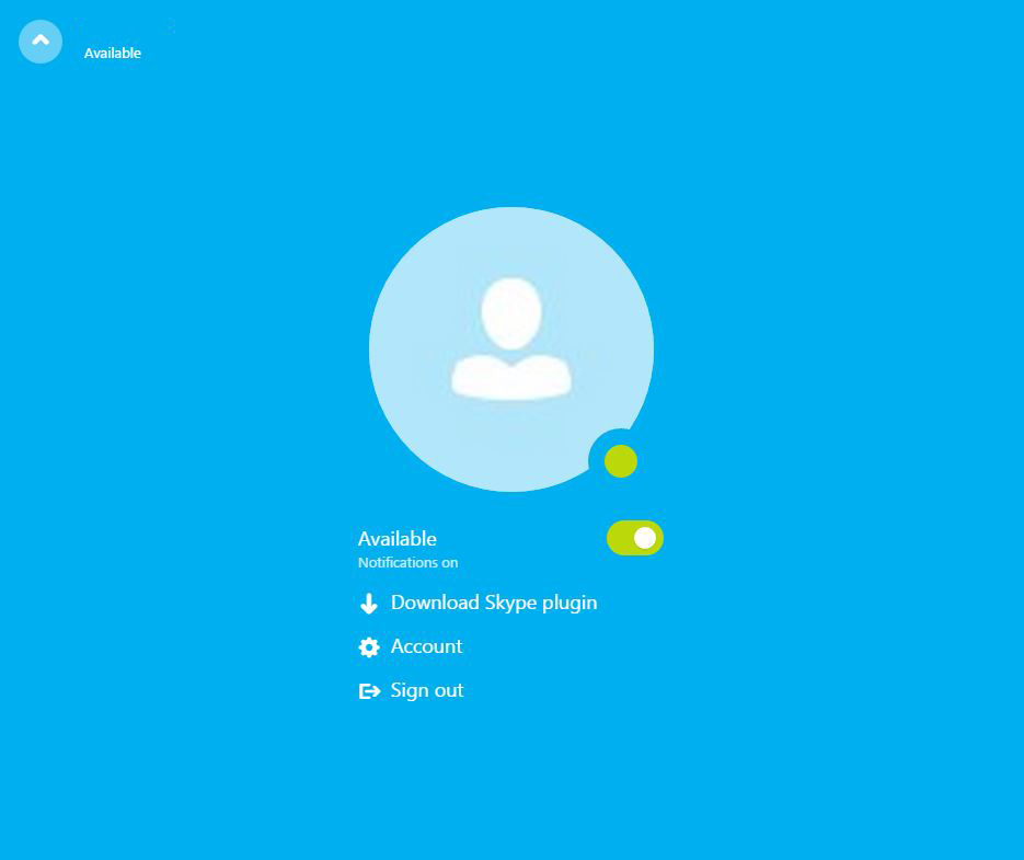 Skype pe web beta Romania 2