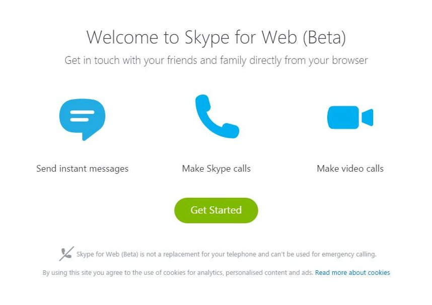 Skype pe web beta Romania