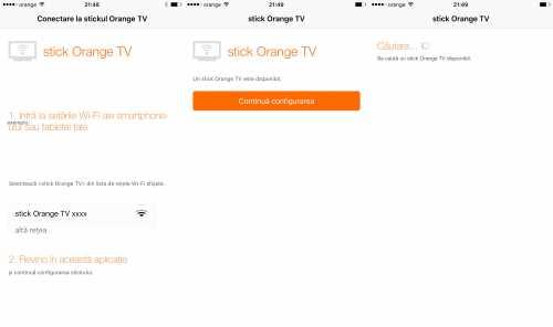 Stick Orange TV functionare