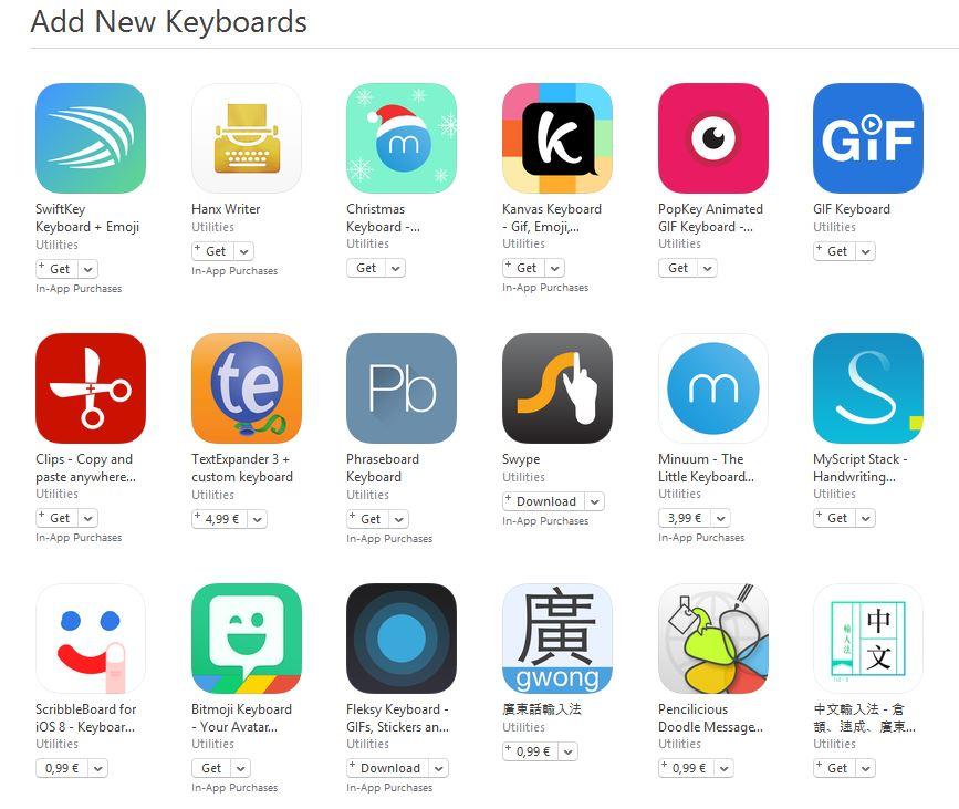 aplicatii tastaturi terte iOS
