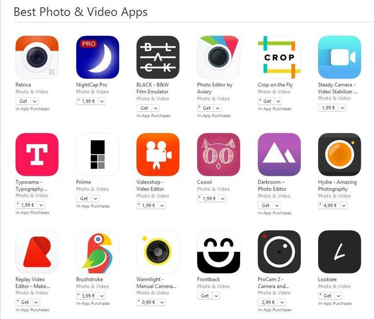 cele mai bune aplicatii foto si video pentru iPhone si iPad