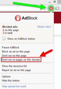 dezactivare adblock