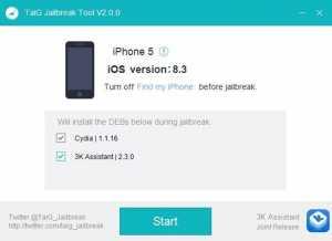 erori iOS 8.3 jailbreak