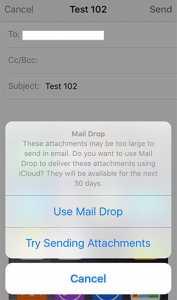 iCloud Mail Drop