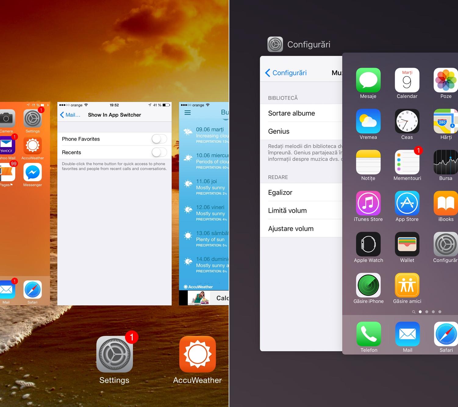 iOS 8.3 vs iOS 9 comparatie 15
