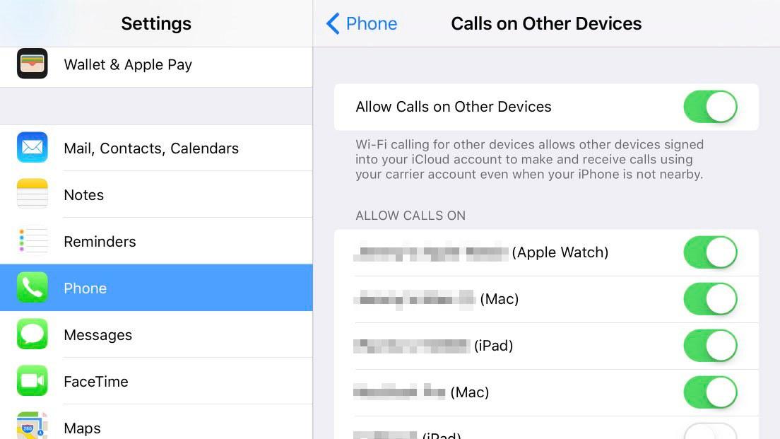 iOS 9 Continuity retea celulara