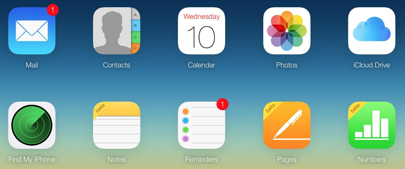 iOS 9 Notite iCloud