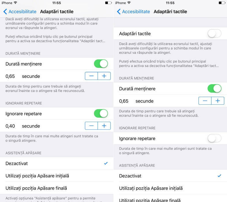 iOS 9 adaptari tactile 1