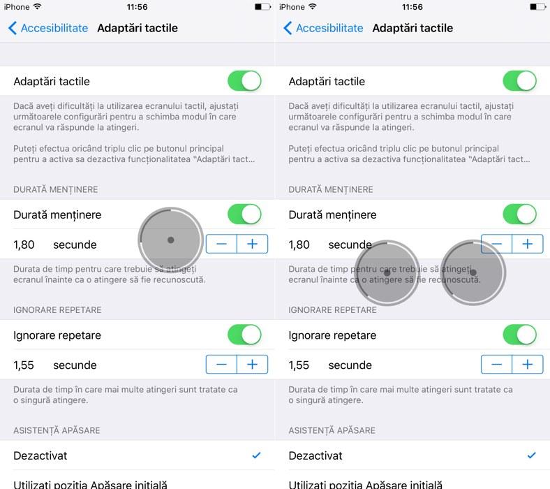 iOS 9 adaptari tactile 2