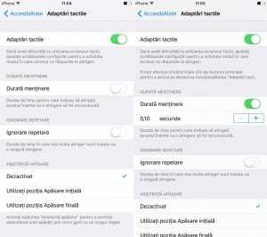 iOS 9 adaptari tactile