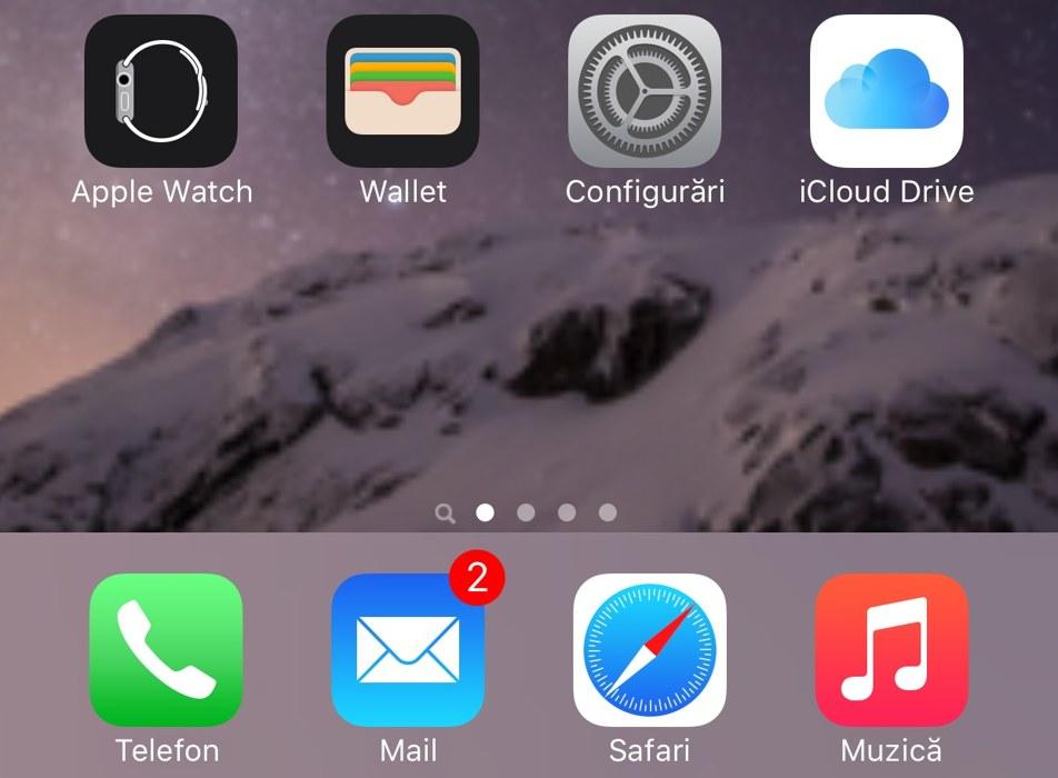 iOS 9 aplicatie iCloud Drive