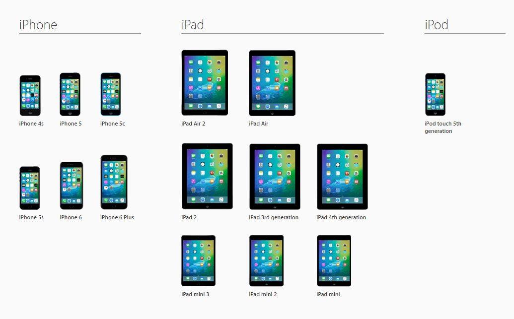 iOS 9 compatibilitate