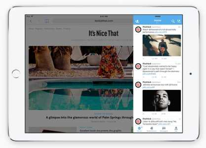 iOS 9 iPad Slide Over doua aplicatii in acelasi ecran