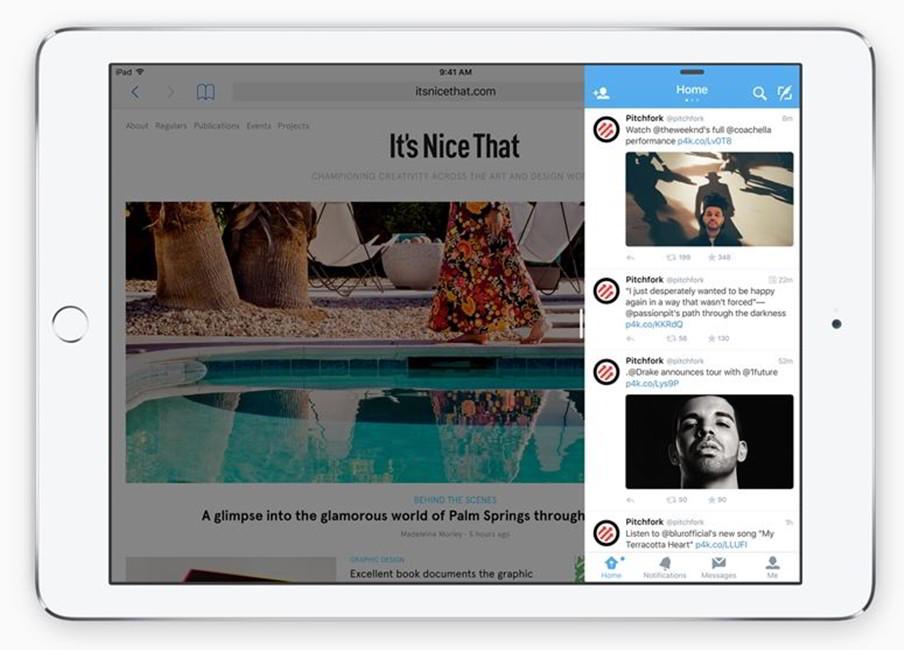 iOS-9-iPad-Slide-Over multitasking