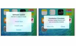 iOS 9 instalare automata