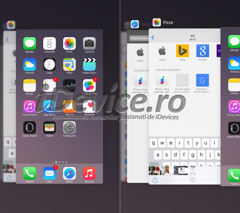 iOS 9 multitasking iPhone front