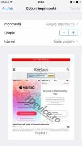 iOS 9 previzualizare tiparire