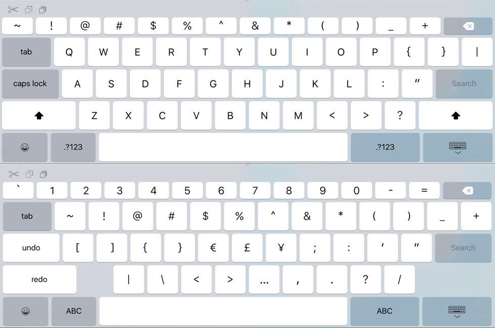 iOS 9 tastatura iPad confirma iPad Pro