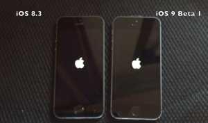 iOS 9 vs iOS 8.3 iPhone 5S