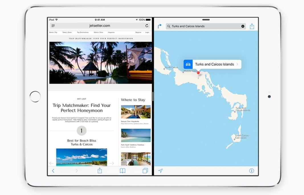 iPad doua aplicatii acelasi ecran