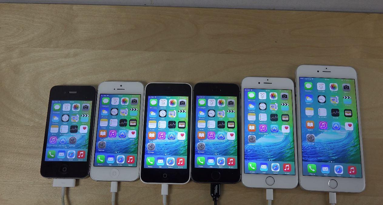 iPhone 6 Plus vs. iPhone 6 vs. iPhone 5S iPhone 5C iPhone 5 vs. iPhone 4S - iOS 9