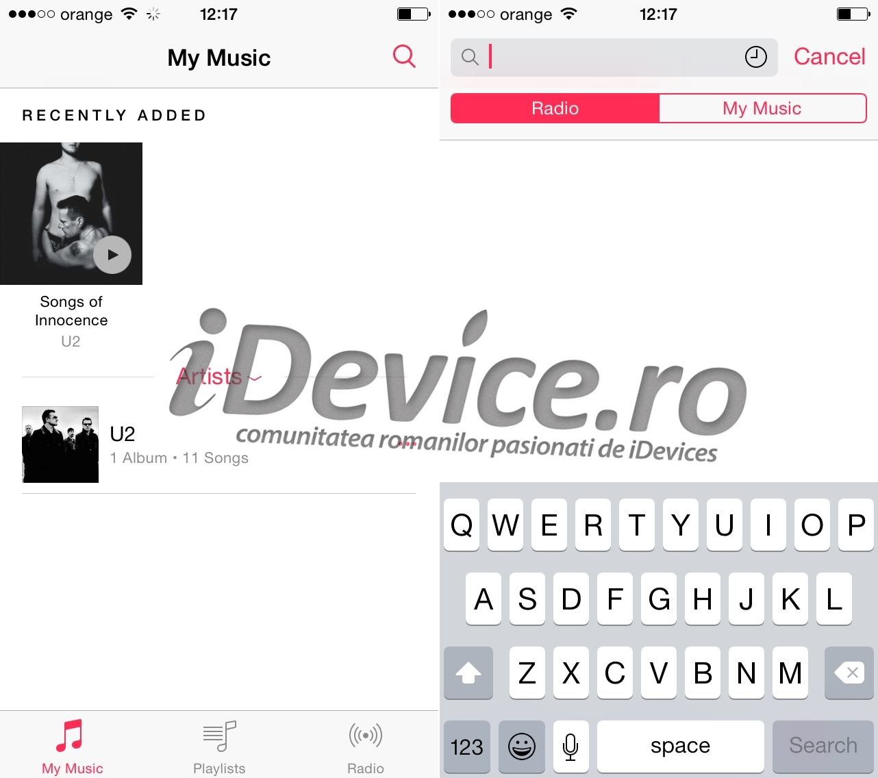 iTunes Radio in Romania 2