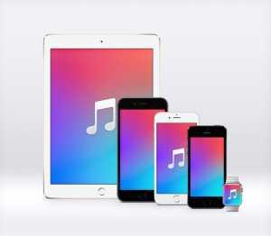 wallpaper iOS 9 Music