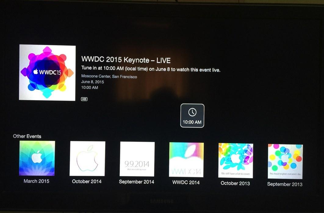 wwdc 2015 apple tv