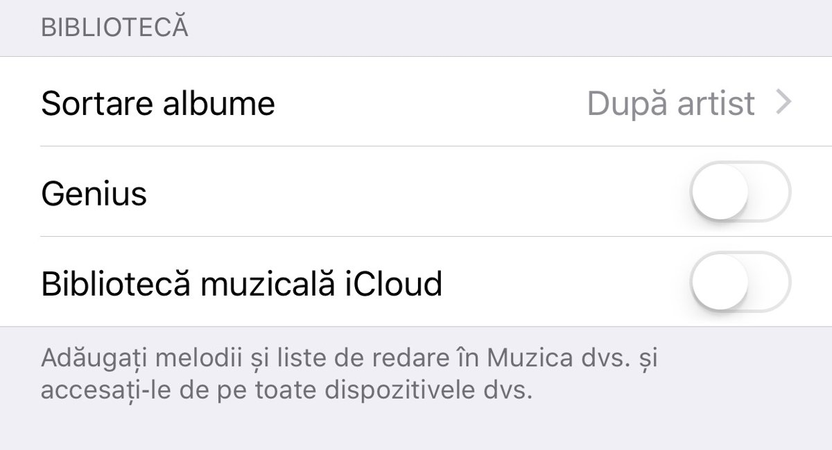 Activare iCloud Music Library Biblioteca Muzicala iCloud