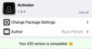 Activator 1.9.4 iOS 8.4