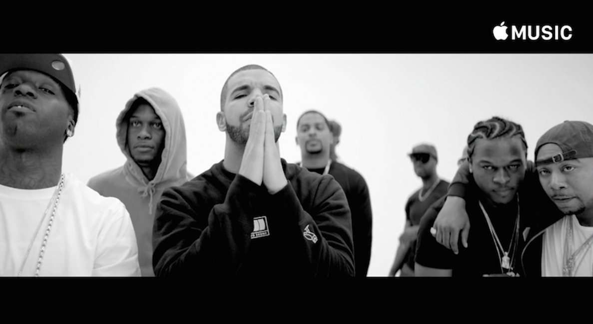 Apple Music clipvideo drake