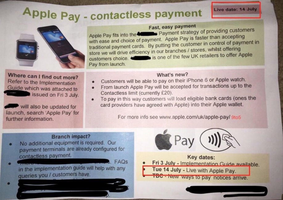 Apple Pay lansare Europa 14 iulie