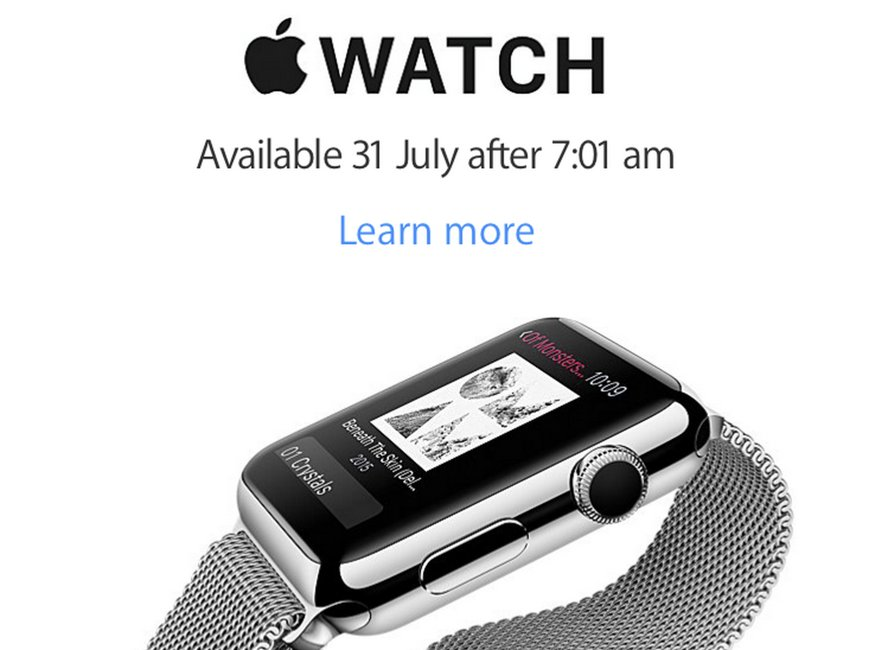 Apple Watch lansare 17 iulie 31 iulie