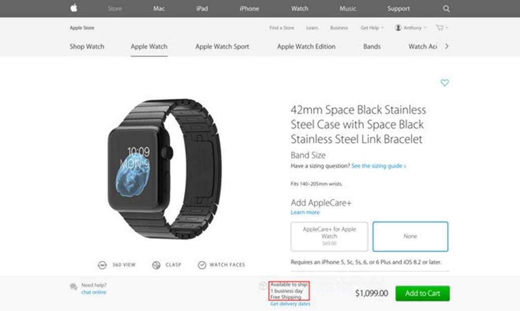 Apple Watch livrare 1 zi