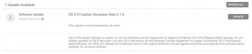 OS X El Capitan beta 3