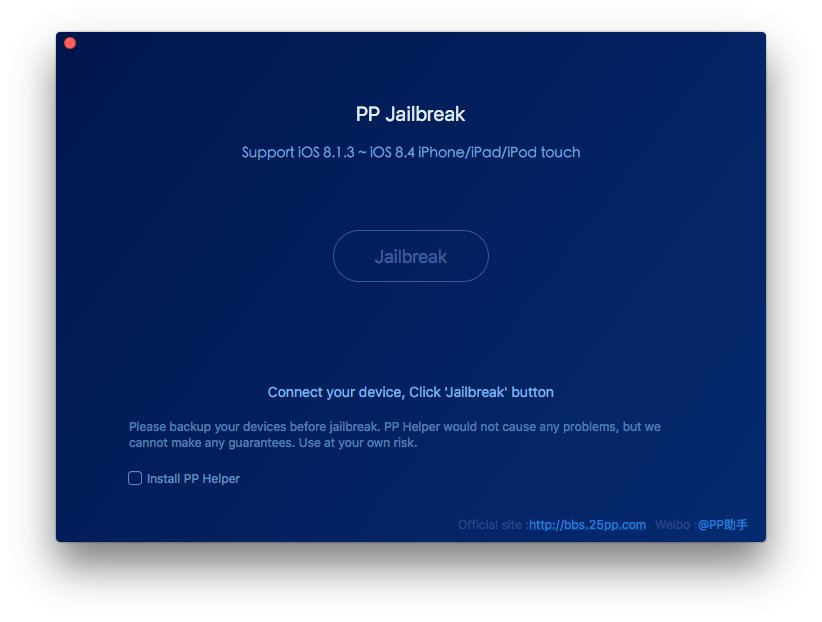 PP iOS 8.4 jailbreak Mac