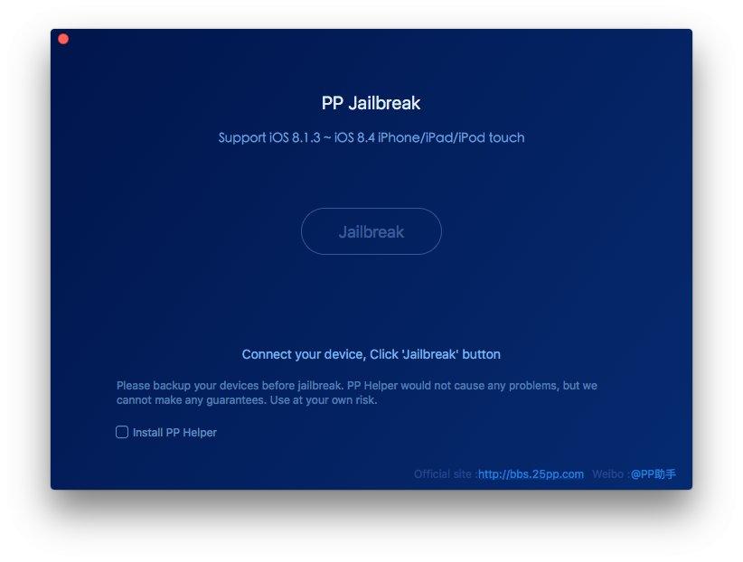 Tutorial PP jailbreak iOS 8.1.3 - iOS 8.4 iPhone, iPad si iPod Touch (Mac)