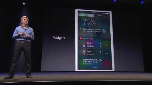 iOS 8 widget