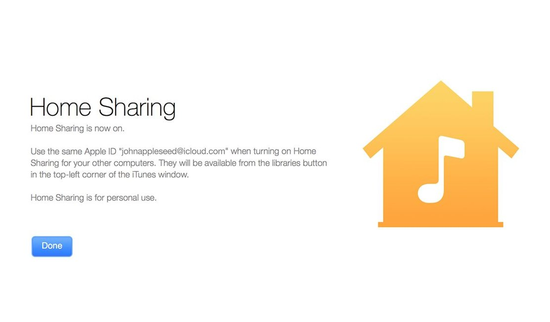iOS 8.4 Home Sharing