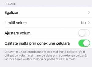 iOS 9 Apple Music calitate inalta conexiune mobila