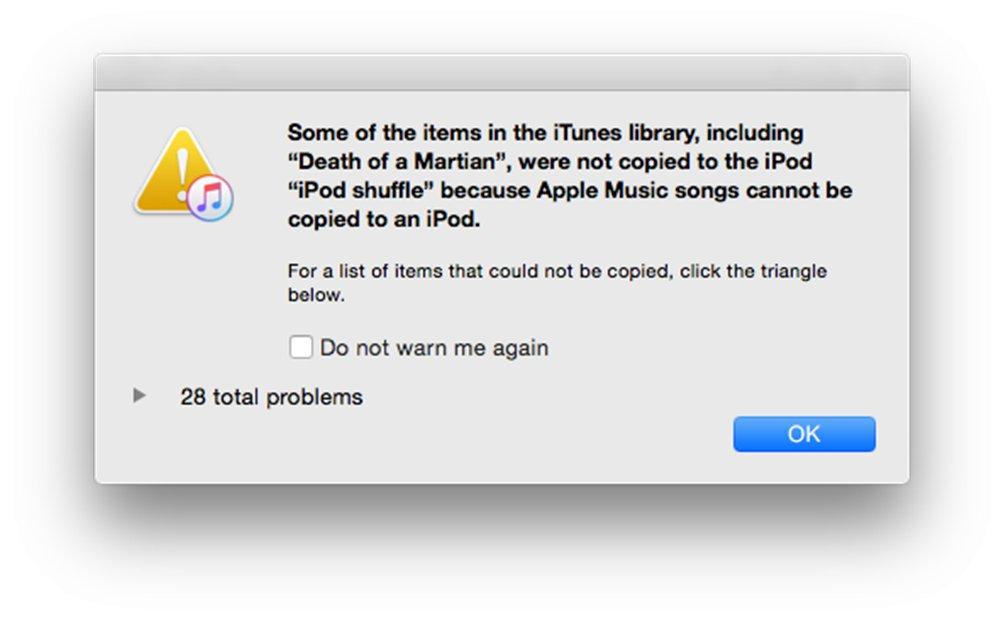 iPod Apple Music piratare