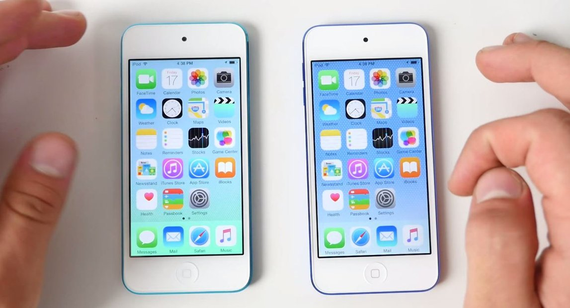 iPod Touch 5G vs iPod Touch 6G comparatie performante