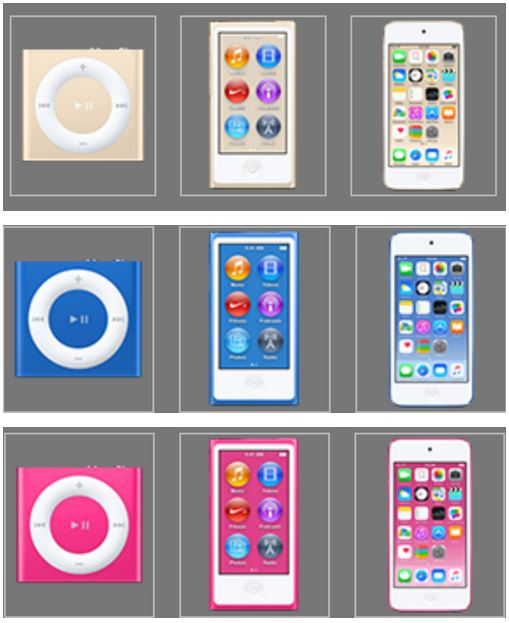 iPod Touch 6G, iPod Nano auriu iTunes 12.2 1