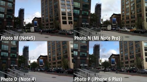 Galaxy Note 5 vs iPhone 6 Plus vs Note 4 vs MiNote comparatie camera 1