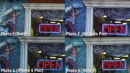 Galaxy Note 5 vs iPhone 6 Plus vs Note 4 vs MiNote comparatie camera 13