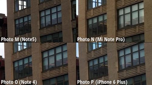 Galaxy Note 5 vs iPhone 6 Plus vs Note 4 vs MiNote comparatie camera 3